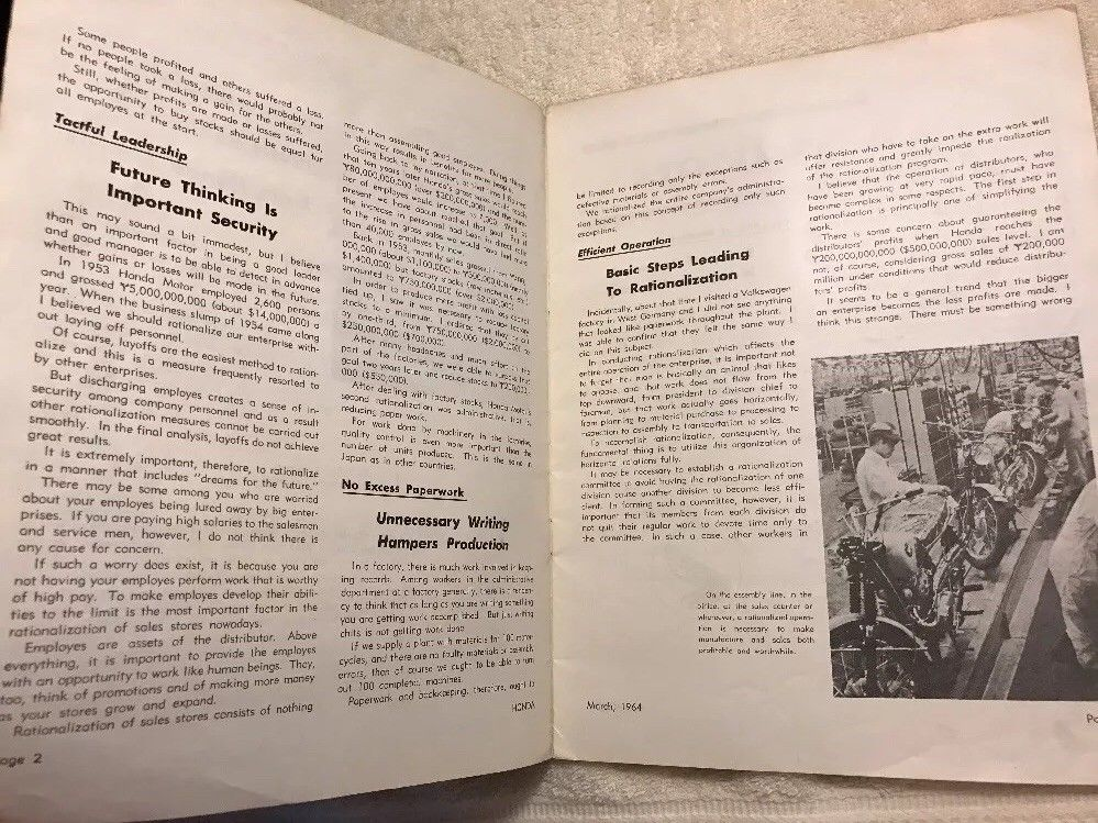 Honda Motorcycle Dealer Magazine March 1964 ebay for sale