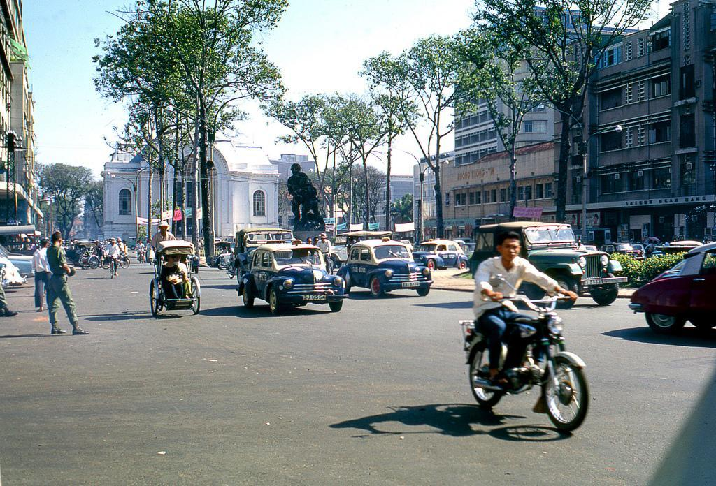 Honda in the heart of saigon, 1968