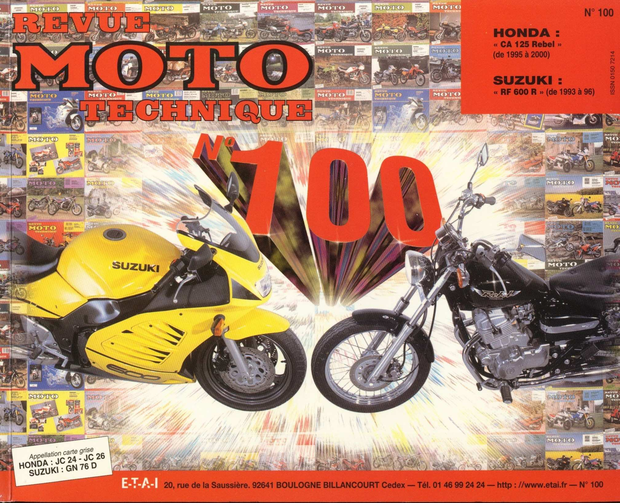 Revue moto technique - no. 100 CA125V Rebel JC24 (1997) (French)