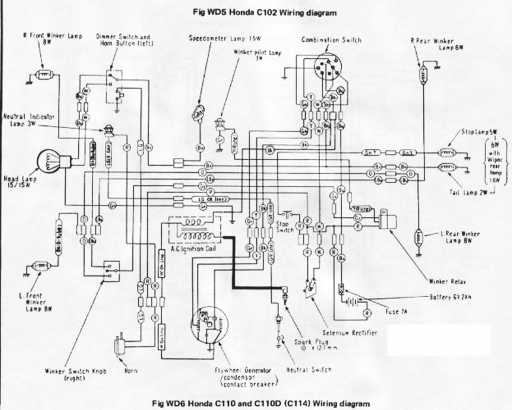 Honda C114 Wiring Schematic
