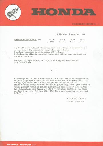 Servicebulletin 11 (1969)