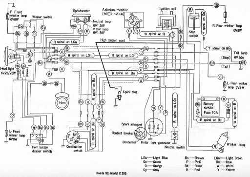 Honda C200 Wiring Schematic