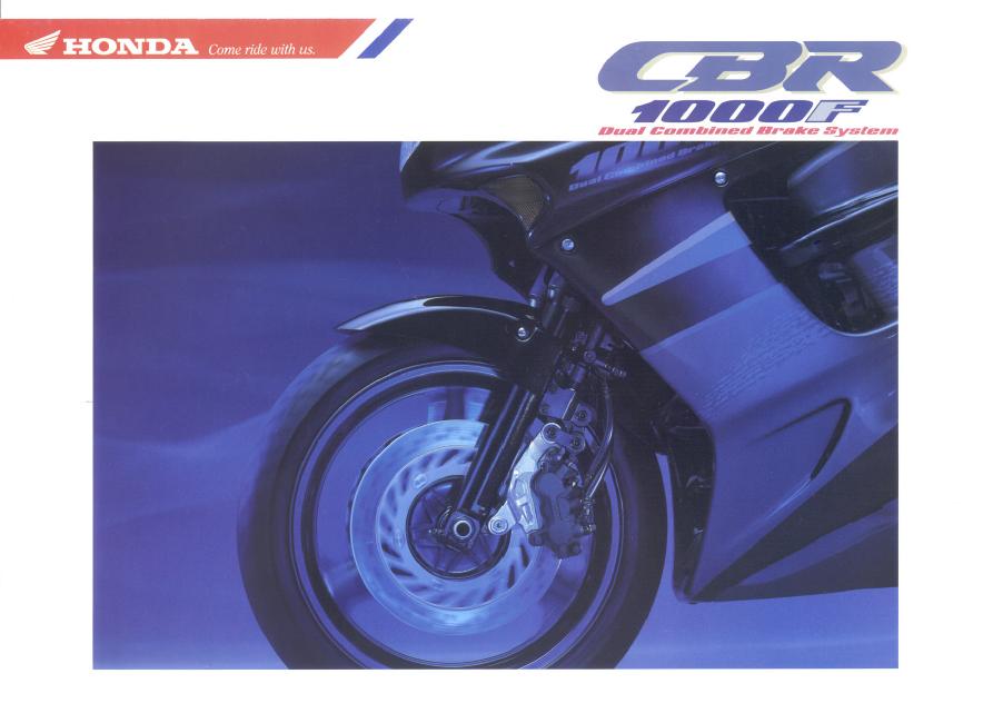Honda CBR1000F Brochure (Dutch)