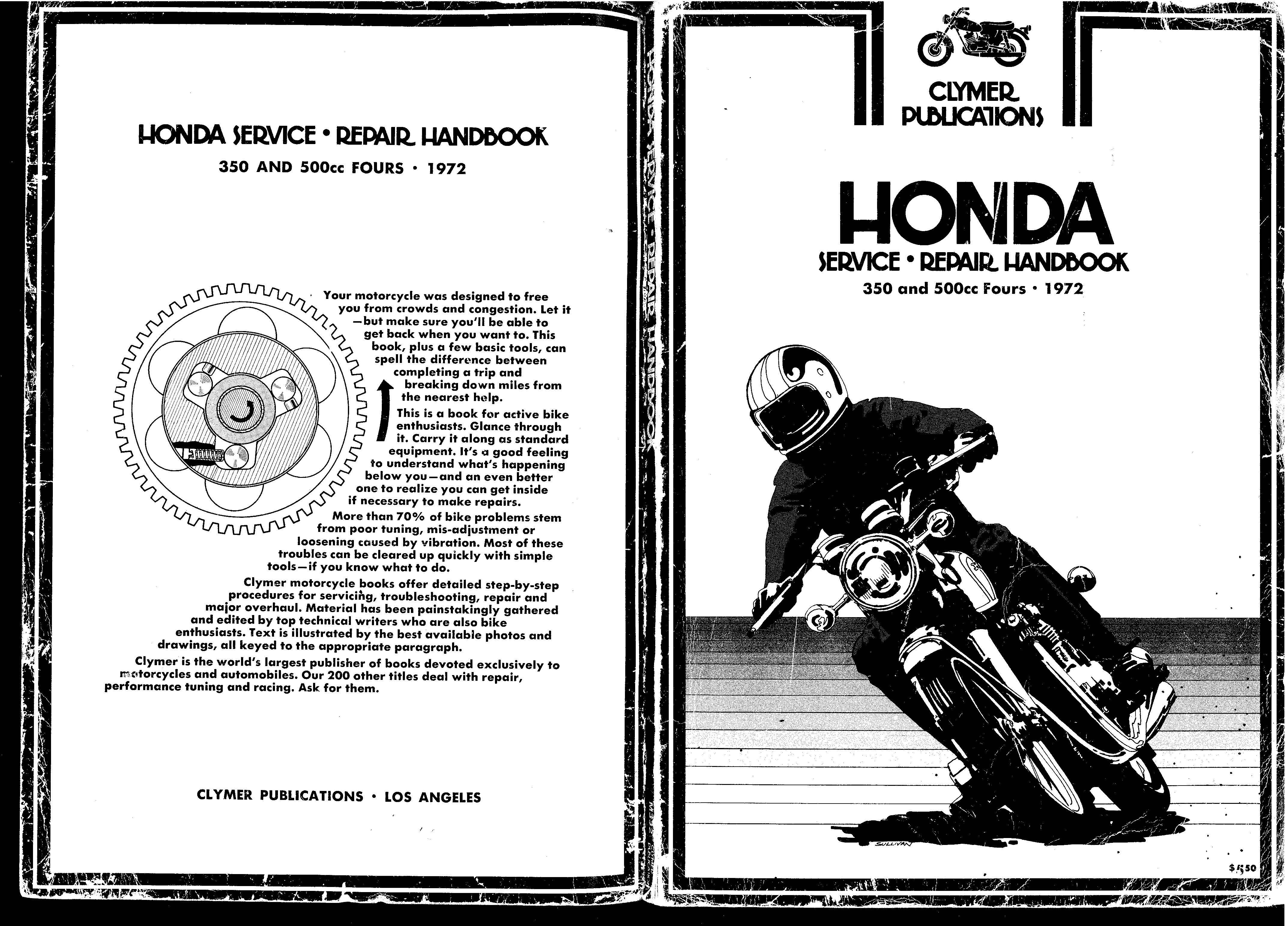 Clymer Honda CB350&CB500 (1972) Fours Workshop Manual