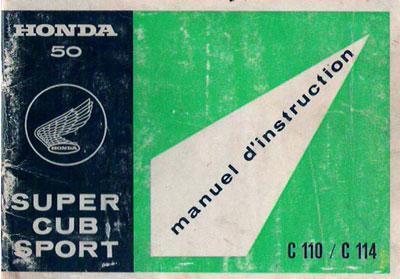Honda C110 (French) Owner's Manual