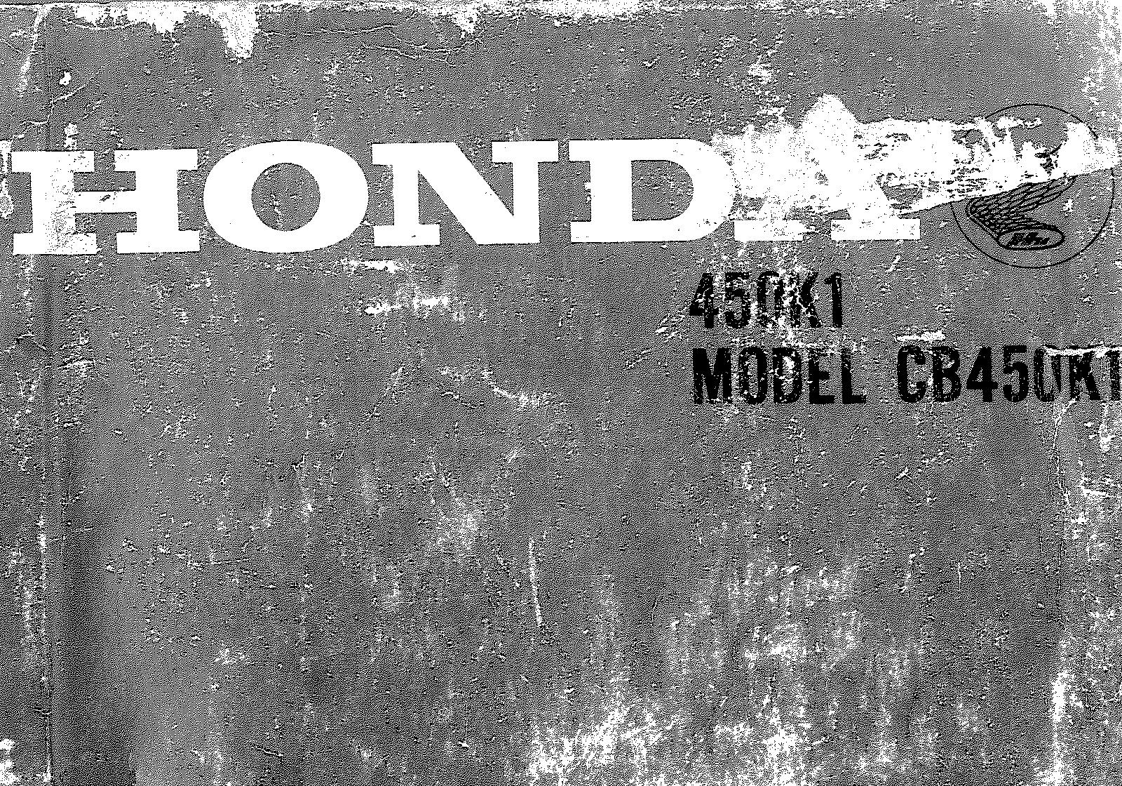 Parts List for Honda CB450 (K1) (1968)