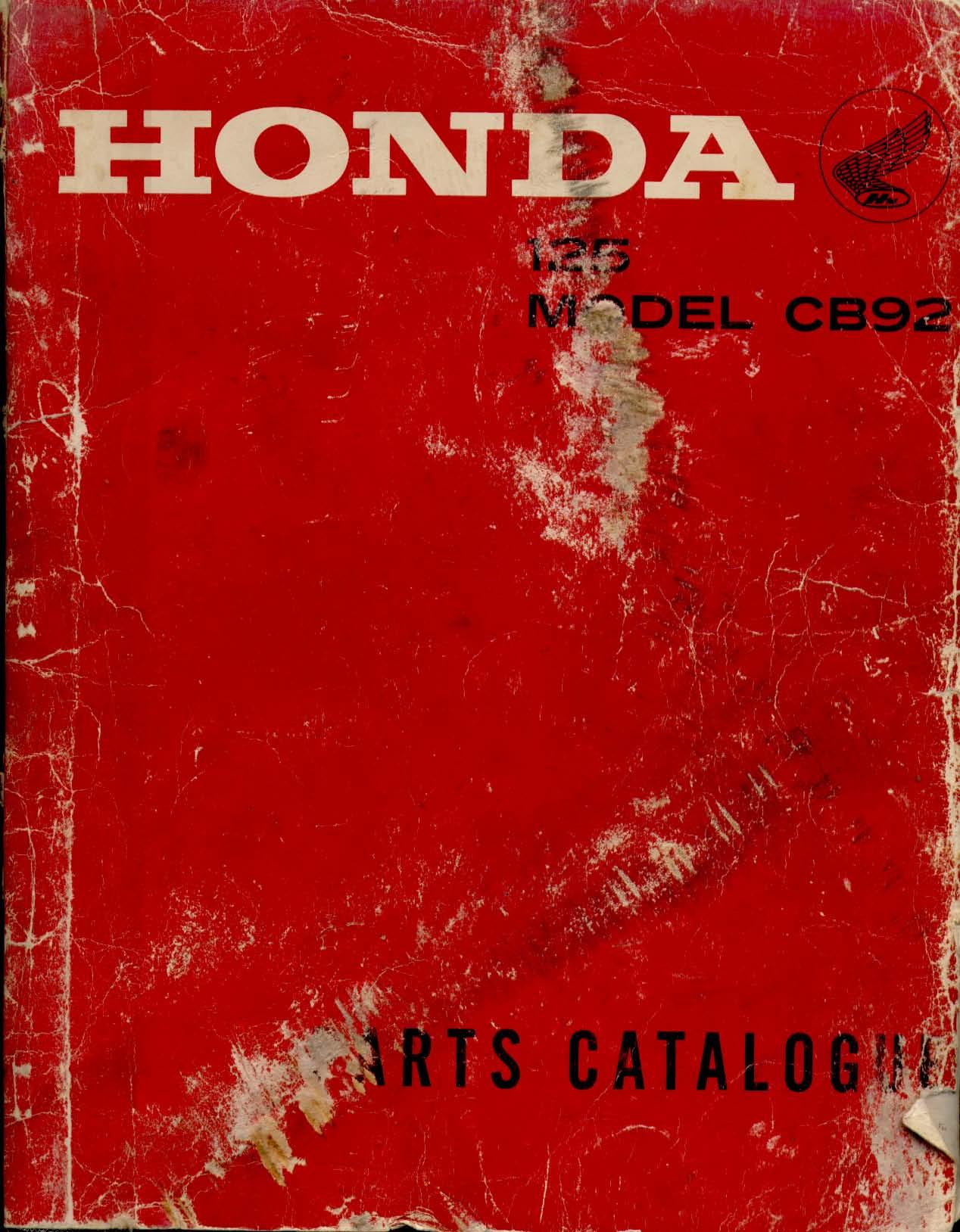 Parts List for Honda CB92 (1966)