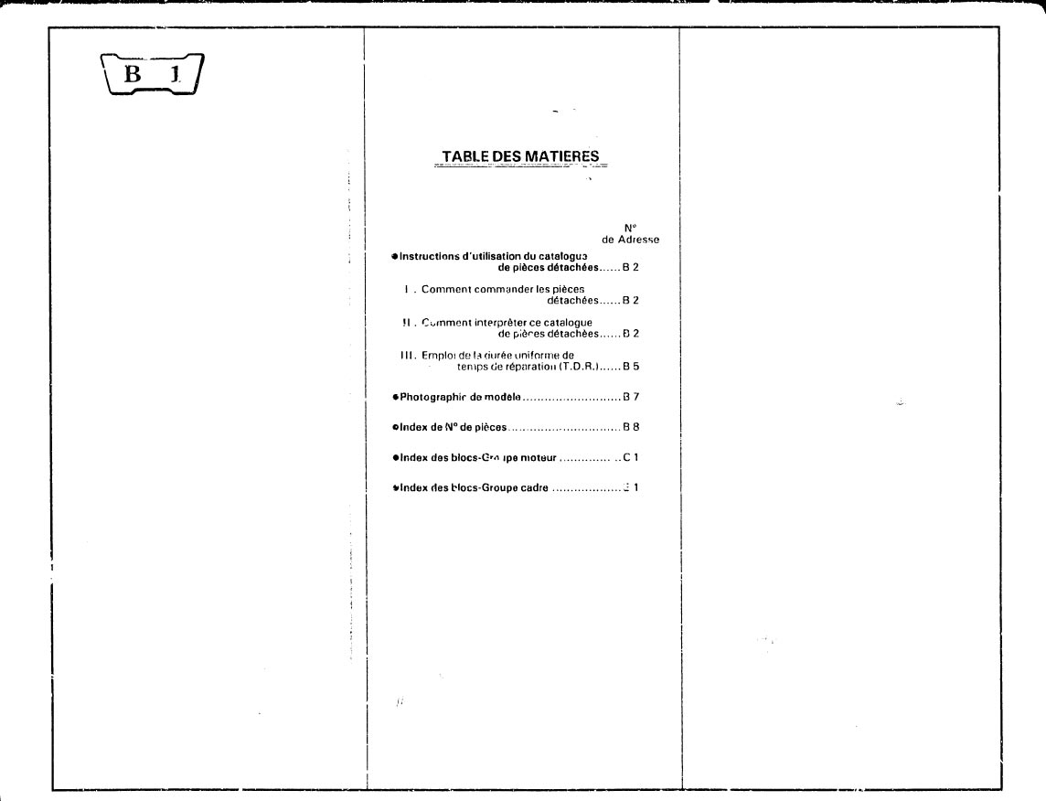 Parts list for Honda XL400RC (1985) (French)