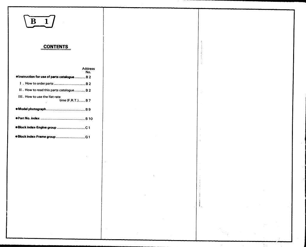 Parts List for Honda XL600R (1983)