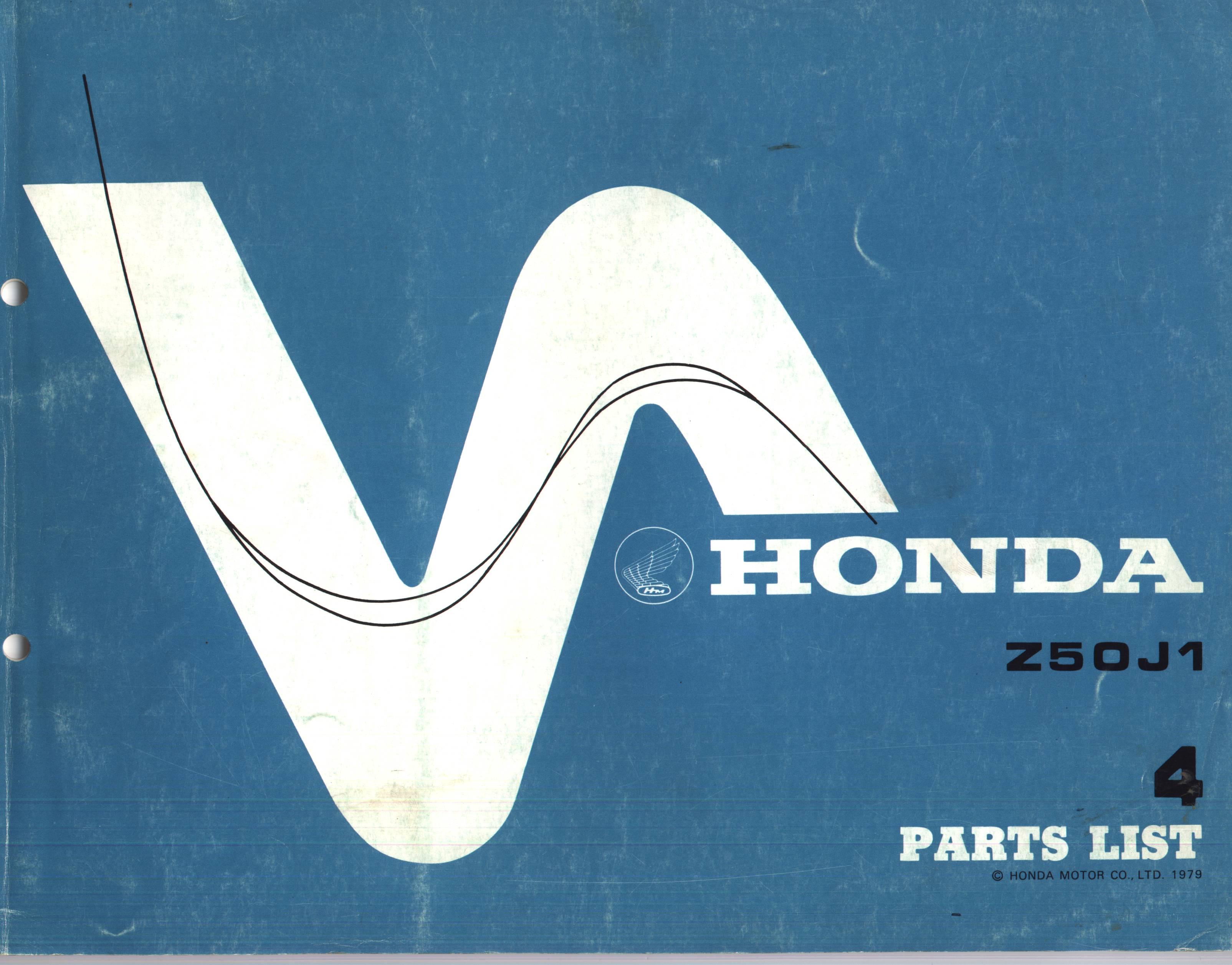 Parts List Honda Z50J1 (1979)