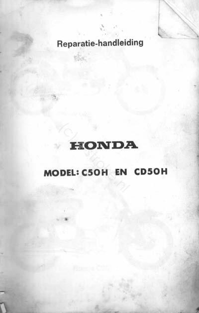 Workshop Manual for Honda C50H (Dutch)