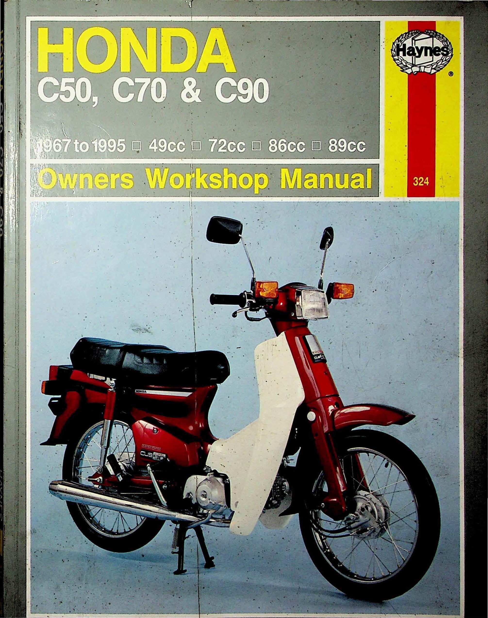 Workshop manual for Honda C70 (1967-1995)