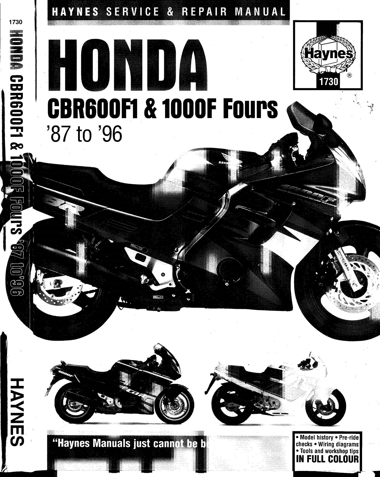 Workshop manual for Honda CBR1000F (1987-1996)
