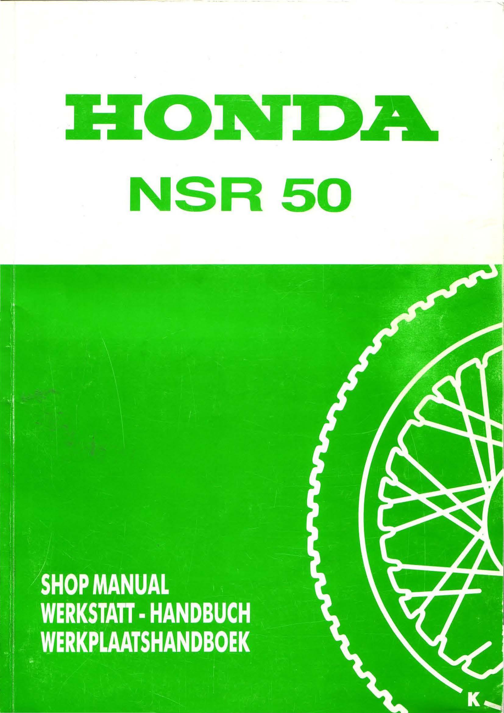 Workshop manual for Honda NSR50 (Dutch)