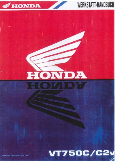 Workshop Manual for Honda VT750 (1997) (German)