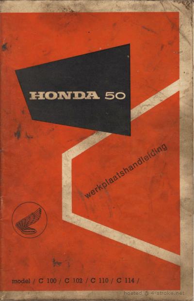 Workshop manual for Honda C100