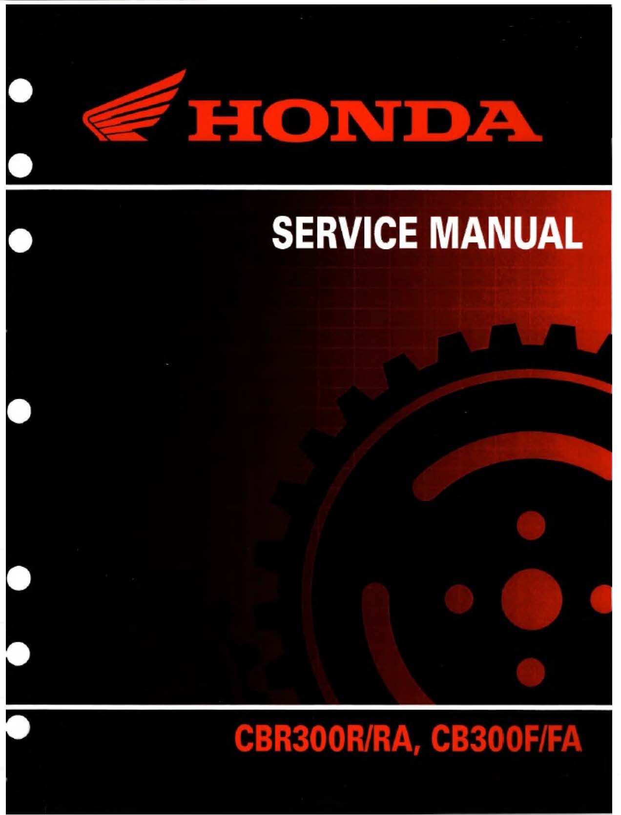 Workshop manual for Honda CBR300R/RA